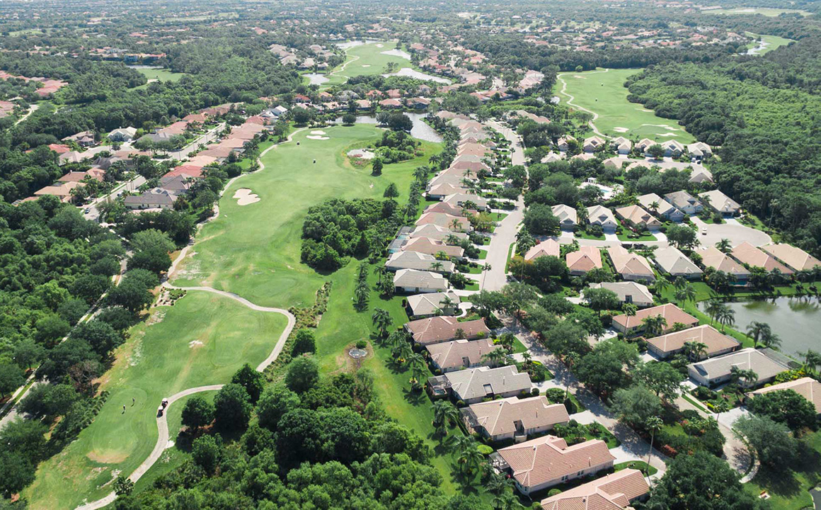 Aerial view of Lakewood Ranch golf course community- Michael Saunders & Company