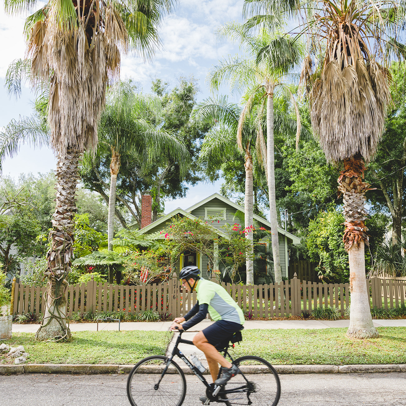 Newer developments in downtown Sarasota have been thoughtfully planned around quaint residential neighborhoods like Laurel Park, above, to preserve their historic appeal.