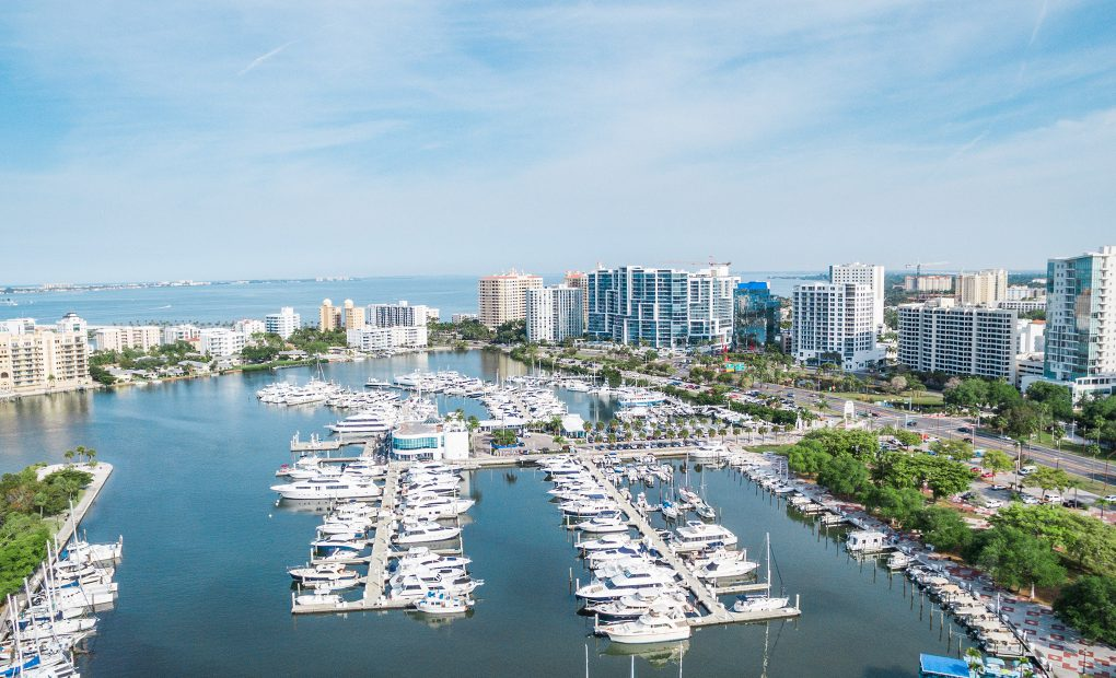 Aerial photo of Sarasota Marina