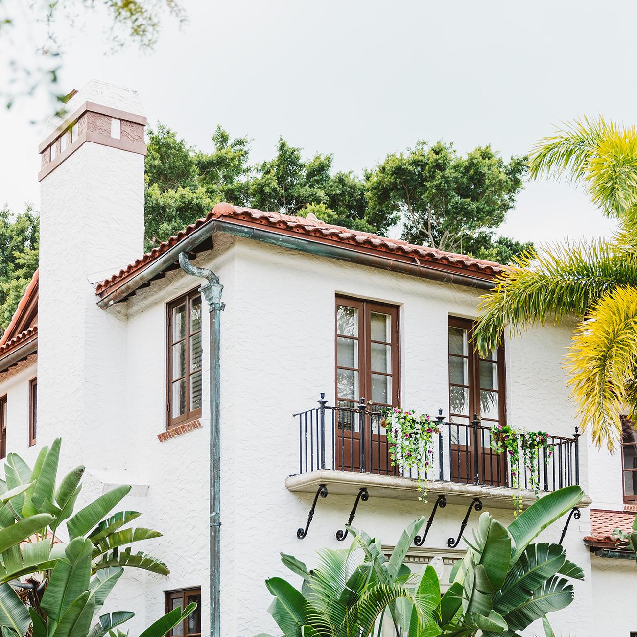 Venice Florida historic home - Spanish styling