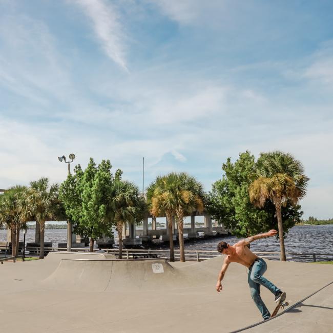 Skateboarding in Bradenton Florida