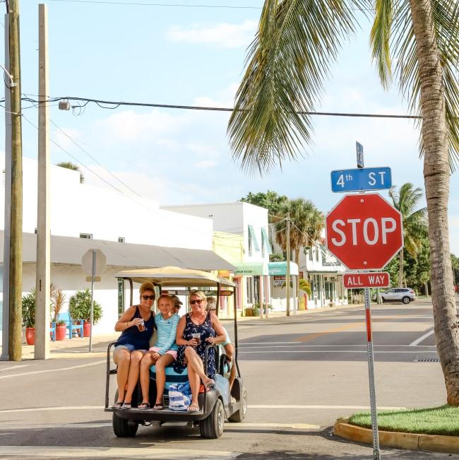 travelling by golf cart - Boca Grande