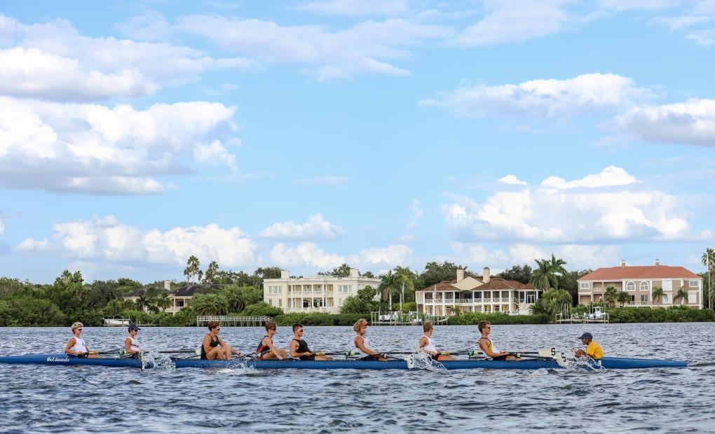 Rowing near Casey Key