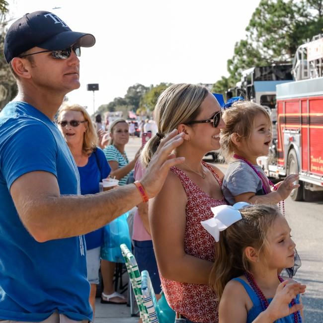 Enjoying the parade in Southwest Florida