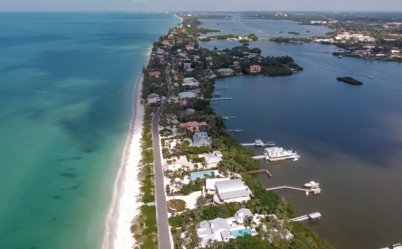Casey Key aerial photo