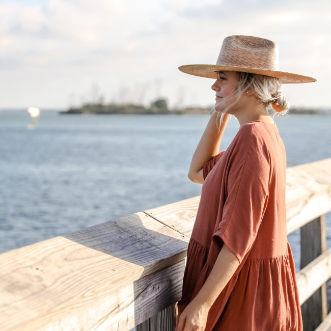 Woman on pier in Southwest Florida