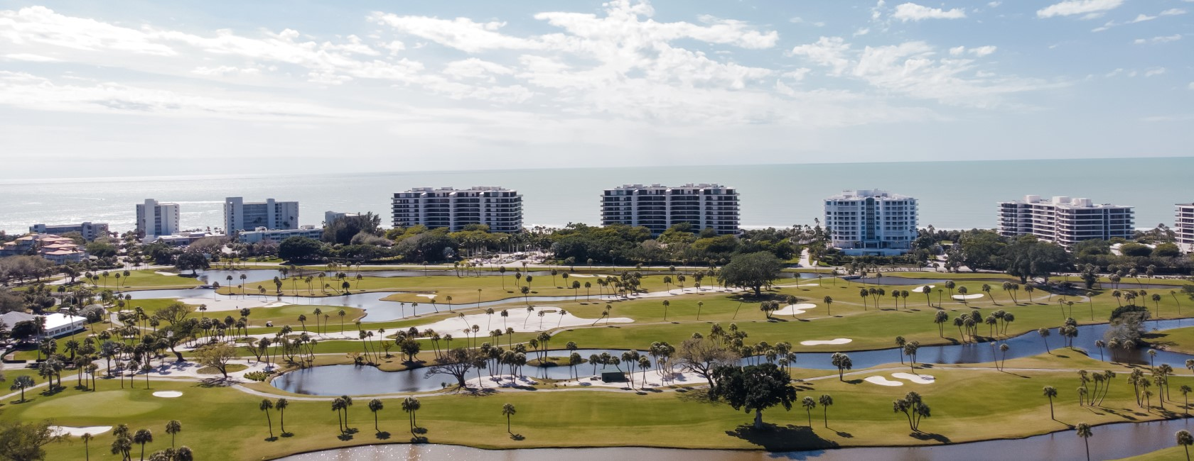 Golf course near Gulf of Mexico